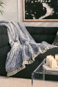 Shop Amped Fleece Fringe Trim Throw Blanket at Urban Outfitters today. We carry all the latest styles, colors and brands for you to choose from right here.