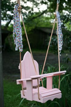 Child's Wood Swing by BonnieBuilds on Etsy