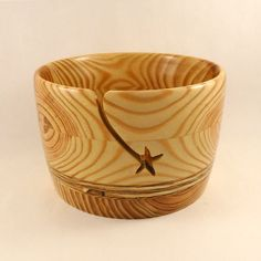 Yarn Bowl, LARGE, Handmade Wood, Star Groove, for Knitting or Crochet is the Hottest New Knitting Accessory!
