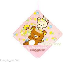 San x Rilakkuma Relax Bear Kitchen Bathroom Hand Towel 30cm Pink | eBay