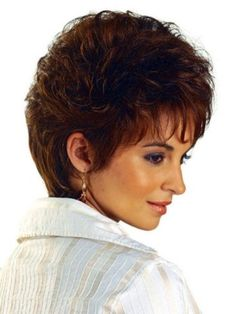 Short Hairstyles for Curly Hair with bangs-2