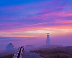 Cape Spear Lighthouse (Newfoundland) by Geoffrey Whiteway on Lighthouse Lighting, Canada National Parks, Beacon Of Light, Foggy Morning, Monument Valley, Cool Pictures, Sunrise, Scenery, Around The Worlds