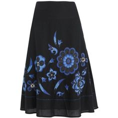 Applique flowers? Can't be too hard, can it? Pinned from http://www.polyvore.com/black_abstract_flower_applique_skirt/thing?id=6661780