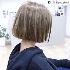 Pin on ヘアカラー Korean Hair Color, Korean Short Hair, Hair Colour Design, Hair Setting, Shoulder Length Hair, Great Hair, Hair Looks, Bob Hairstyles, Hair Lengths