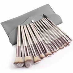 BESTOPE Makeup Brushes Set With Tapered Handle & Case Bag Professional Champagne Gold Premium - BESTOPE Makeup Brushes Set With Tapered Handle & Case Bag Professional Champagne Gold Premium – Makeup Natural Source by Makeup_Natural Ankara Nakliyat How To Wash Makeup Brushes, Affordable Makeup Brushes, Diy Makeup Brush, Makeup Brush Storage, Best Makeup Brushes, Makeup Brush Cleaner, Makeup Brush Holders, It Cosmetics Brushes, Eyeshadow Brushes