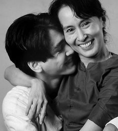 Aung San Suu Kyi and son Kim Aris. No words to describe the utter beauty of this picture.