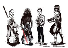Rey, Kylo Ren, Captain Phasma and Finn are property of Lucasfilm/Disney. The Kylo lightsabe. Episode seven toons Rey Star Wars, Bae, Darth Vader, Deviantart, Stars, Disney, Artwork, Fictional Characters, Work Of Art