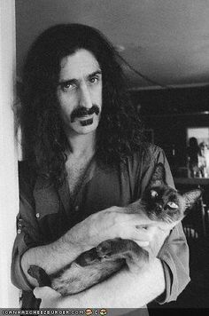 Siamese cat.... with Frank Zappa.