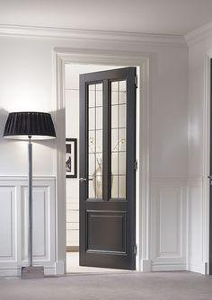 Do in double doors for study & dining room Indoor Glass Doors, Classic Doors, Door Molding, Luxury Kitchen Design, Door Design, House Design, Room Doors, New Home Designs, Internal Doors