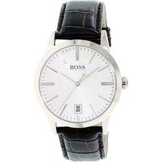 Hugo Boss Men's Ambassador 1513130 Black Leather Quartz Watch