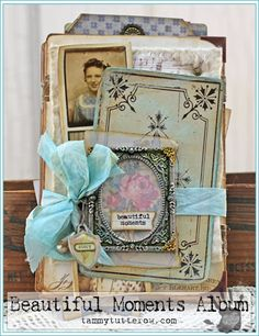 Beautiful Moments Cabinet Card Accordion Album by Tammy Tutterow | www.tammytutterow.com