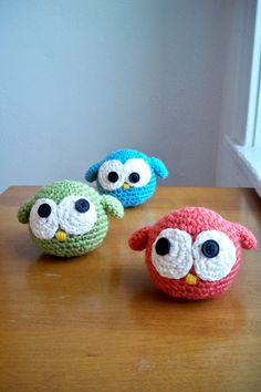 @Beth J blakely -- 3 crochet owls