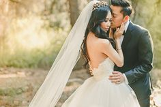 Delicate Wedding Portraits   Kristen Booth Photography   Enchanting Mountain Bridal Portraits in a Fairy Tale Forest
