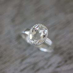 Vintage inspiriert handgemachte Verlobungsring von onegarnetgirl