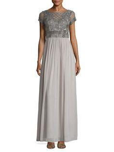 Embellished Gathered  Boatneck Dress