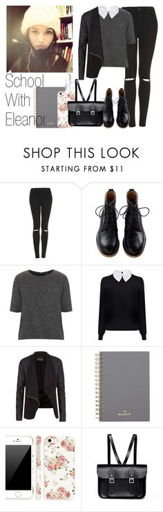 """""""School With Eleanor"""" by the4dipshits ❤ liked on Polyvore featuring Topshop, Carven, Calder, Mulberry, Retrò and The Cambridge Satchel Company"""