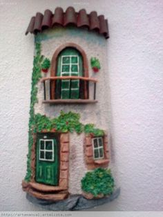 1 million+ Stunning Free Images to Use Anywhere Clay Houses, Ceramic Houses, Tile Crafts, Craft Stick Crafts, Polymer Clay Fairy, Doll House Crafts, Clay Flower Pots, House Cake, Clay Fairies