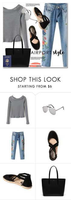 """Jet Set: Airport Style"" by svijetlana ❤ liked on Polyvore featuring Lacoste, airportstyle and zaful"