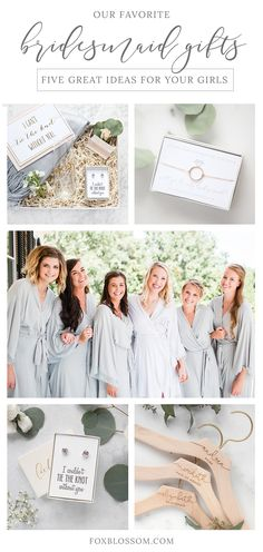 Gorgeous bridesmaid gifts that your girls will actually love!   Shop at foxblossom.com
