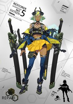 Beautiful Science Fiction, Fantasy and Horror art from all over the world. Female Character Design, Character Creation, Character Design References, Character Design Inspiration, Game Character, Character Concept, Concept Art, Neko Maid, Mode Cyberpunk