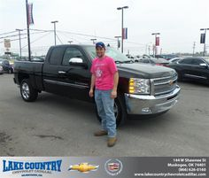 #HappyAnniversary to John Jones on your 2013 #Chevrolet #Silverado 1500 from Michael Ridenhour  at Lake Country Chevrolet Cadillac!