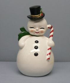vintage ceramic snowman