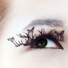butterfly eyelashes!