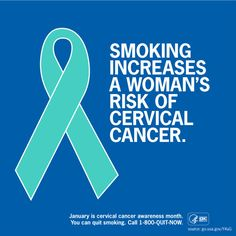 Twitter / CDCTobaccoFree: During Cervical #Cancer Awareness ...
