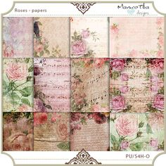 Roses - papers pack
