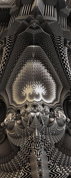 MetallicBaroque, TheHolyMother by FractsSH.deviantart.com fractal art made with mandelbulb 3d