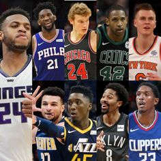 The NBA Skills Challenge: Joel Embiid, Lauri Markkanen, Al Horford, and Kristaps Porzingis for the bugs. Jamal Murray, Donovan Mitchell (OUT), Spencer Dinwiddie, Lou Williams, and Buddy Hield (REP) will represent the guards.