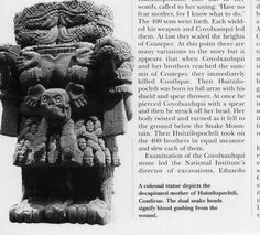 View Image - A colossal statue depicts the decapitated mother of Huitzilopochtli, Coatlicue. The dual snake heads signify blood gushing from the wound.