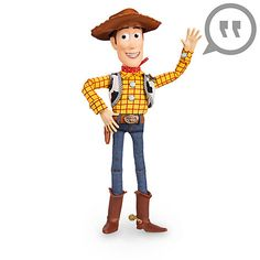 Disney Woody Talking Figure - 16 Inch: Talking Woody is ready to save the wild west with your little cowboy! With over 30 signature phrases and his go-to giddy up look, theres endless amounts of fun waiting to be had with this Toy Story classic. Toy Story Figures, Toy Story 3, Action Figures, Figurines D'action, Disney Pixar, Disney Toys, Disney Plush, Sheriff Woody, Little Cowboy