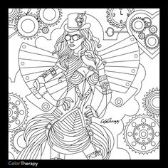 362 Best Steampunk Coloring Pages For Adults Images In 2019