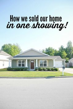 How I sold my house in 3 days above list price- home staging Sell Your House Fast, Selling Your House, Sell Home Fast, Little Green House, Do It Yourself Inspiration, Home Staging Tips, Villa, H & M Home, Real Estate Tips
