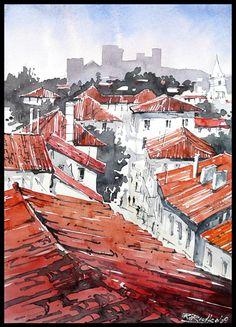 watercolour 50/35cm about 4Hours ahhh... hot Barcelona... someday i am going to livin there... Zapraszam także na warsztaty akwarelowe: www.rafalrudko.com --> nauka