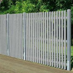 Lattenzaun 180 x 180 cm Front Yard Fence, Pool Fence, Backyard Fences, Garden Fencing, Pergola Patio, Front Gate Design, Door Gate Design, Fence Design, Patio Design