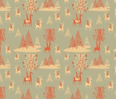 I love this gift wrap! You could use this as a backdrop in the frame behind the glitter letters! via Spoonflower