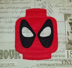 Lego Deadpool super hero inspired mask ITH Project In the Hoop Embroidery Design Costume, Cosplay Fancy dress Masquerade, Photo booth, Prop. by TheHoopBooteek on Etsy