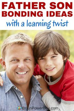 See our list of father son bonding activities for making special memories. You will find ideas for fathers and sons to do together that have a learning twist and are fun for both of them to do. Click to see the list and learn more.