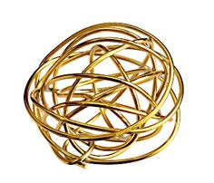 "decorative ball for coffee table bowl.....................................    Pier 1 Metallics Wire Sphere (3"" di)  now $2.40"