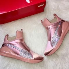Items similar to NEW Kylie Jenner Bling Custom Puma Fierce Copper Velvet  Rope With Swarovski Crystals Limited Edition on Etsy e9debd34e