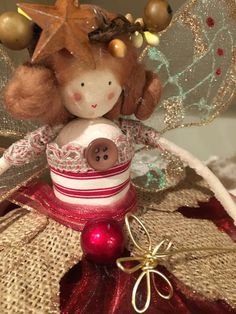 Christmas Tree Top Fairy - Rustic/Cottage Chic by FabulousFairyFactory on Etsy