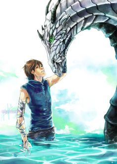While the man looks nothing like any of my boys and neither does the dragon it just makes me think of them *shrug*