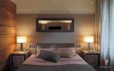 Фото интерьера спальни квартиры в стиле модерн