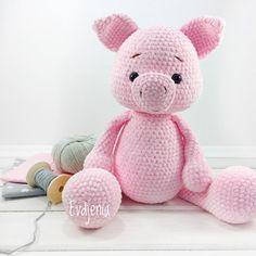 Amigurumi Crochet Pattern Pig toy for baby rattle soft toy piggi Sweet little Piggy Crochet Patterns Amigurumi, Crochet Pig, Crochet Teddy, Crochet Animal Patterns, Crochet Animals, Handmade Toys, Handmade Ideas, Etsy Handmade, Rope Crafts