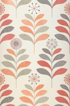Papel de parede Tessa | Papel de parede dos anos 70