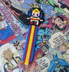 Wonder Woman Bookmark perler bead sprite by GeekofMine