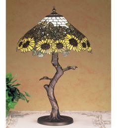 "Meyda 23.5""H Wild Sunflower Table Lamp"
