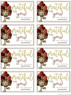 Thanksgiving Gift Tags {Editable} by Tales from a Very Busy Teacher Thanksgiving Teacher Gifts, Thanksgiving Favors, Holiday Fun, Holiday Gifts, Thanks For The Gift, Teacher Appreciation Gifts, Volunteer Appreciation, School Gifts, In Kindergarten